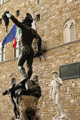 View of bronze statue of Perseo - Florence, Italy — Stock Photo
