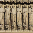 图库照片: Notre Dame de Paris carhedral carving sculpture in franc