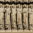 Notre Dame de Paris carhedral carving sculpture in franc — Stock Photo