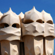 Royalty-Free Stock Photo: BARCELONA-JUN 9:Gaudi Chimneys La Pedrera on JUN 9, 2009