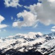 Panoramic View of Monte Bianco mountains ( Courmayer AostValley ) — 图库照片 #6591489