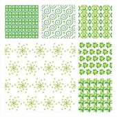 Vector Collection Of 6 Seamless Pattern — Stock Vector