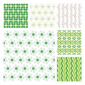 Vector Collection Of 6 Seamless Pattern — Cтоковый вектор