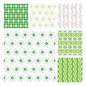 Vector collectie van 6 naadloze patroon — Stockvector