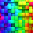 Foto Stock: Rainbow of colorful boxes