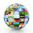 Stock Photo: Sphere made of a collection of photos