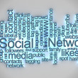 Social network tag cloud — Stock Photo #6579193