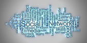 Social network tag cloud — Stock Photo
