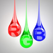RGB drops — Stock Photo