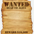 Stock Photo: Wanted Dead or Alive