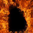 Royalty-Free Stock Photo: Fire with empty space
