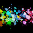 Rainbow of watercolor paint - Stock Photo