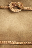 Handmade paper with rope border — Stock Photo