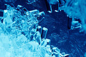 Blue crystals — Stock Photo