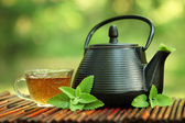 Tea and teapot — Foto de Stock