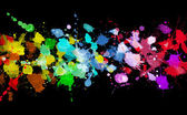 Rainbow of watercolor paint — Stock Photo