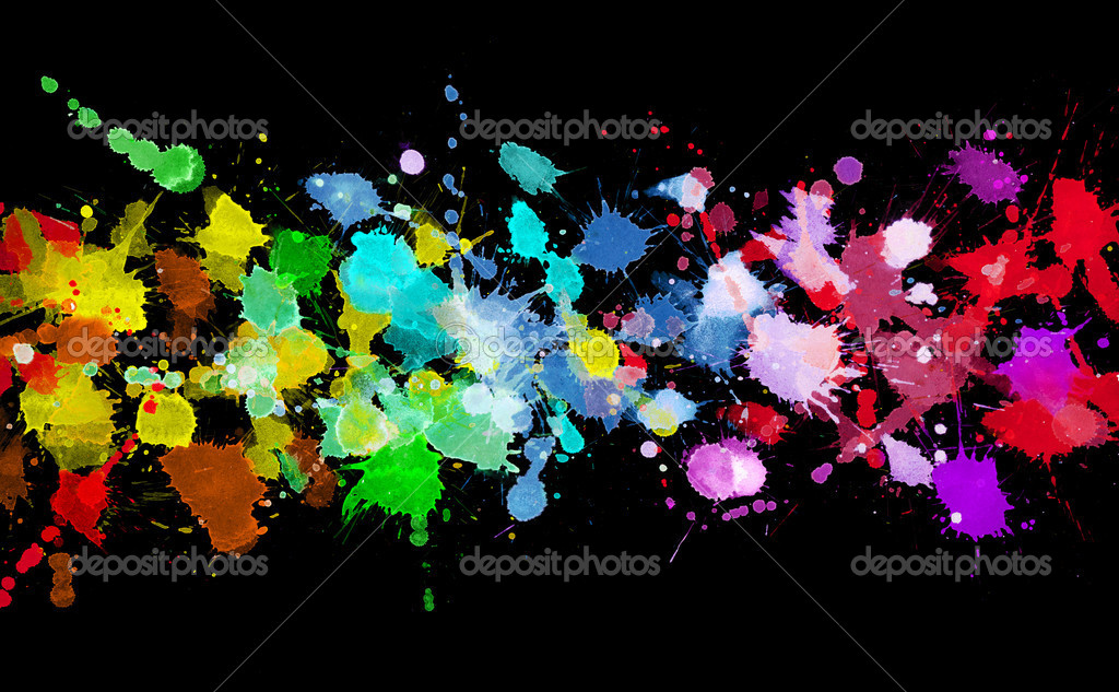 Rainbow of watercolor paint — Stock Photo #6622854