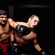Mixed martial artists fighting - punching — Stock Photo #6517723