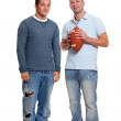 Royalty-Free Stock Photo: Two men with football