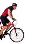 Bicicleta de equitação do ciclista — Foto Stock
