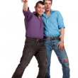Excited Gay Couple — Stock Photo