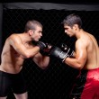 Mixed martial artists before a fight — Stock Photo