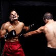 Mixed martial artists fighting - punching — Stock Photo #6533049