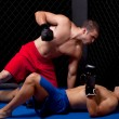 Stock Photo: Mixed martial artists fighting
