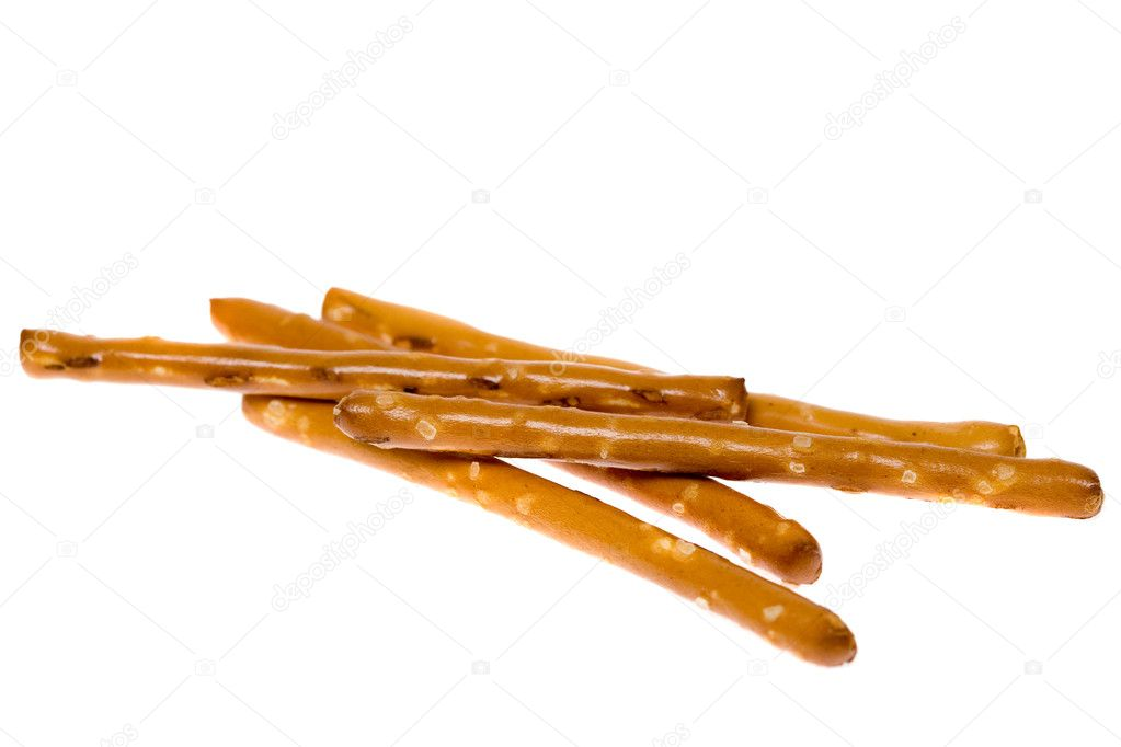 A small pile of salted pretzel sticks. — Stock Photo #6537627