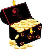 Buried treasure. — Stock Vector