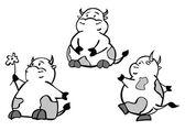 Vector of cartoon cows. — Stock Vector