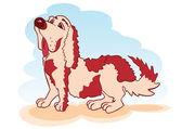 Vector of cartoon dog — Stock Vector