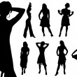 Collection of women. Vector. — Stock Vector
