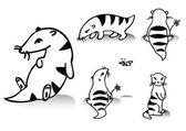 Funny animals. Cartoon — Stock Vector