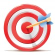 Red darts target aim and arrow — Stock Vector
