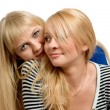 Stock Photo: Two cheerful girlfriends.