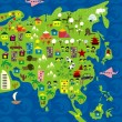 Royalty-Free Stock Vector Image: Cartoon map of asia