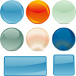 Stock Vector: Shiny buttons