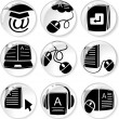 E-learning icons — Stockvectorbeeld