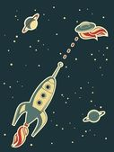 Retro space — Stock Vector
