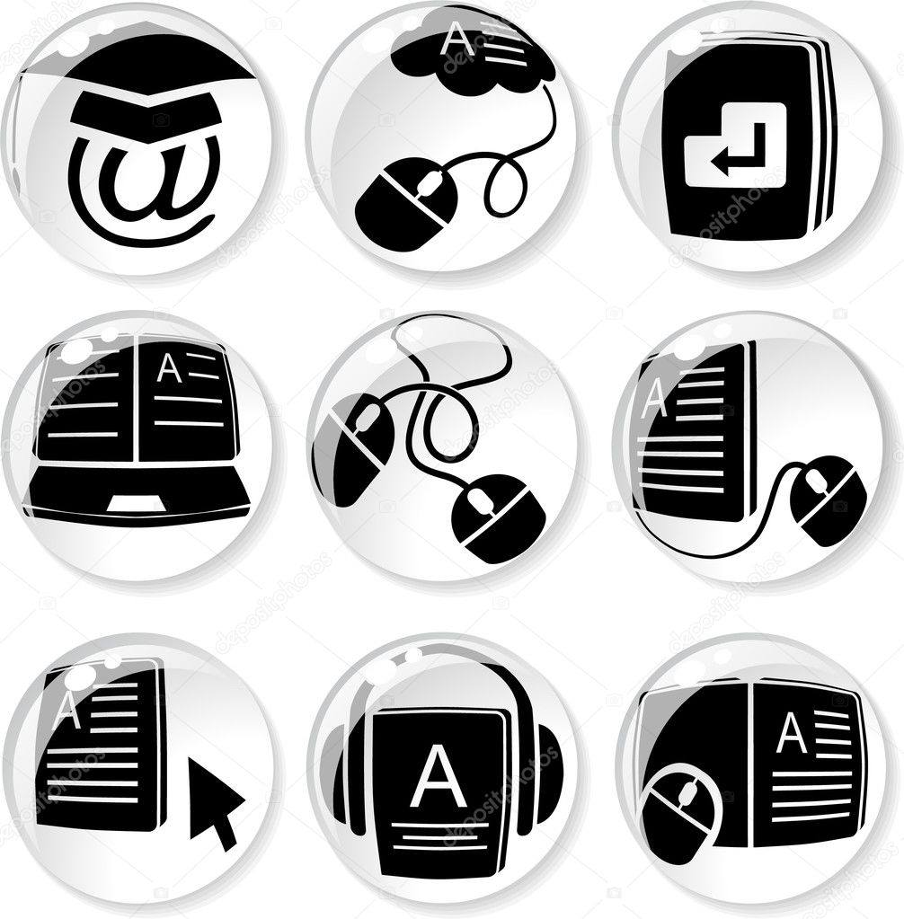 E Learning Icon E-learning icons   Vector by