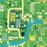 mapa de dibujos animados inconsútil de Londres — Vector de stock