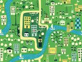 Seamless Cartoon map of london — Stock Vector