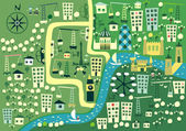Karikatür harita londra — Stok Vektör