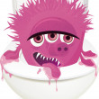 Royalty-Free Stock Vector Image: Toilet monster
