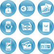 Royalty-Free Stock Vector Image: Blue ball icons economical