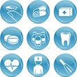 Medical shiny icons — Stock Vector