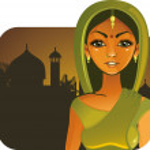 dziewczyna bardzo indyjskie — Wektor stockowy