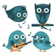 cute vogels — Stockvector  #6559778