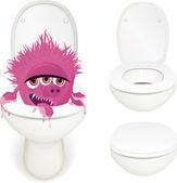 Toilet monster — Stock Vector